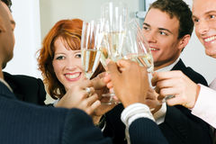 Clinking champagne glasses Royalty Free Stock Photo