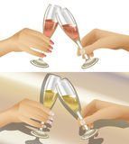 Clinking Champagne Glasses Royalty Free Stock Image