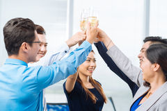 Clinking glasses Royalty Free Stock Image