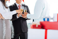 Clinking at the party Stock Images