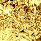 Clinquant d'or incurvé Photo stock