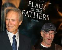 Clint Eastwood,史蒂文Spielberg 库存图片