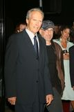 Clint Eastwood,史蒂文Spielberg 图库摄影