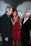 Clint Eastwood, Dina Eastwood, Giorgio Armani Royalty-vrije Stock Foto's