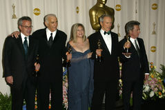Clint Eastwood,Dustin Hoffman,Barbra Streisand Royalty Free Stock Photo
