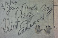 Clint Eastwood handprints Royalty Free Stock Image