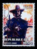 Clint Eastwood Postage Stamp imagenes de archivo