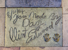 Clint Eastwoods handprints Royalty Free Stock Image