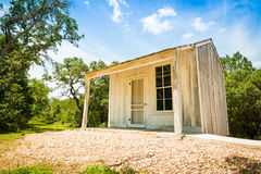 Clint's Cabin in Buda, Texas. Clint's Cabin is the name given to these slave's quarters for the Carrington Hotel. Today it is located within the historic Royalty Free Stock Photos