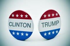 Clinton εναντίον του ατού Στοκ εικόνα με δικαίωμα ελεύθερης χρήσης