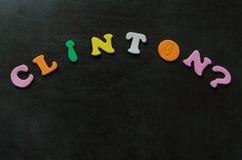 clinton Χίλαρυ στοκ εικόνες με δικαίωμα ελεύθερης χρήσης