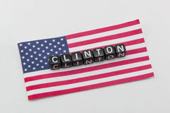 Clinton, on the background. Of the flag royalty free stock images