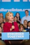 Clinton bij de Politieke Verzameling van 2016 Stock Foto's
