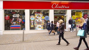 Clinton Cards Shop a Leeds, Regno Unito Immagini Stock
