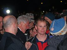 Clinton in the Crowd Stock Image