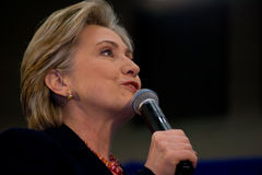 clinton daje Hillary Nashville mowy tsu Zdjęcia Royalty Free