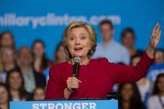 Clinton em uma reunião de 2016 campanhas Fotografia de Stock Royalty Free