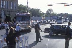 Clinton/Gore bus on the 1992 Buscapade campaign tour in Texas Royalty Free Stock Photos