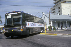Clinton/Gore bus leaves San Antonio Stock Image