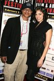 Clinton H. Wallace and Ursula Taherian at the Pan African Film Festival Premiere of 'Layla'. Culver Plaza Theatre, Culver City, CA Royalty Free Stock Photo