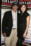 Clinton H. Wallace and Ursula Taherian at the Pan African Film Festival Premiere of 'Layla'. Culver Plaza Theatre, Culver City, CA Stock Photo