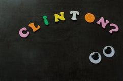 clinton hillary Arkivfoton