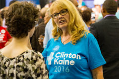 Clinton Kaine Supporter Stock Photography