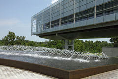 Clinton library and fountain Stock Photography