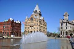 clinton nowy kwadratowy Syracuse York Obrazy Royalty Free