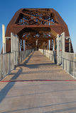 Clinton Presidential Park Bridge i Little Rock, Arkansas Arkivbild