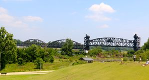 Clinton Presidential Park Bridge Royalty Free Stock Photography