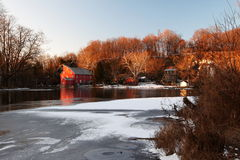 Clinton Red Mill - el municipio - congelado Fotos de archivo libres de regalías