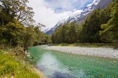 Clinton River, pista di Milford, parco nazionale di Fiordland, Southland Fotografie Stock Libere da Diritti