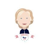 Clinton` s portret op een wit Royalty-vrije Stock Afbeeldingen