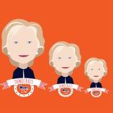 Clinton-` s Porträt auf einem Rot Stockfotos