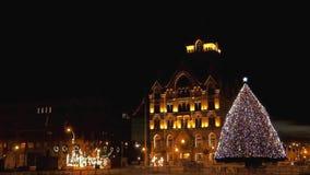 Clinton Square Christmas träd arkivfilmer