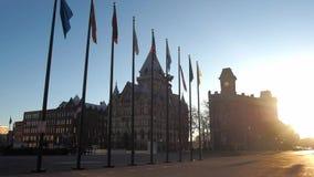 Clinton Square en Syracuse, NY almacen de metraje de vídeo