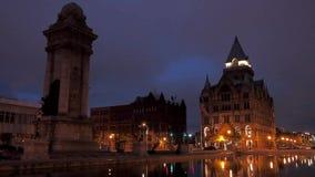 Clinton Square i Syracuse, NY arkivfilmer