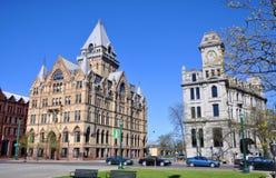 Clinton Square, Syracuse, de Staat van New York royalty-vrije stock foto's