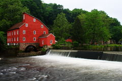 Clinton Township Red Mill Royaltyfria Bilder