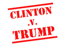 CLINTON v TRUMP Rubber Stamp Royalty Free Stock Photography