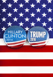 Clinton V Trump US Election Stock Images