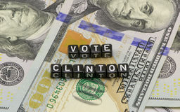 Clinton Votes for dollars Stock Image