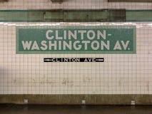 Clinton-Washington Avenue Subway Station imagem de stock royalty free