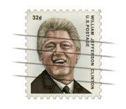 Clinton znaczek pocztowy zdjęcia royalty free
