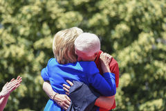 Clintons embrace stock photo