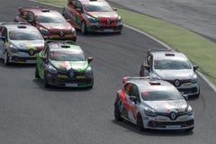Clio Cup Campionati di corsa catalani dell'automobile fotografie stock libere da diritti