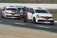 Clio Cup. Catalan Car Racing Championships Royalty Free Stock Photography