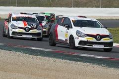 Clio filiżanka Katalońscy Samochodowi Bieżni mistrzostwa Fotografia Royalty Free