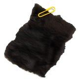 Clip amarillo con el papel carbón Imagen de archivo